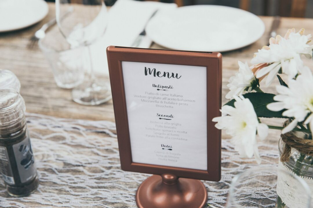 menu design - how to design and upsell
